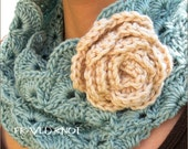 PDF CROCHET PATTERN - The Perfect Cowl with detachable flower clip