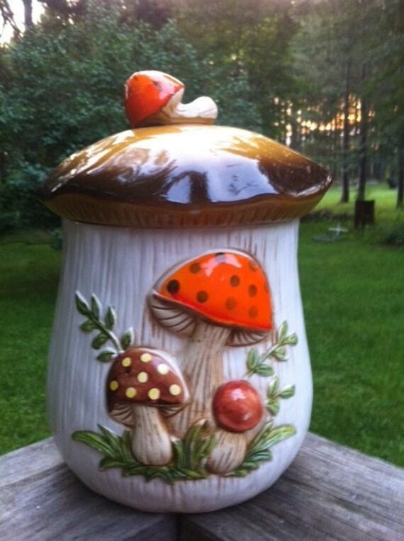 Sears Merry Mushroom Large Canister