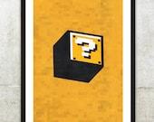 "Retro NES Mario Bros inspired print 11X17"""
