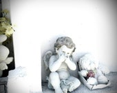 Laughing Angel in the Key West Cemetery Fine Art Photograph 5x5 or larger