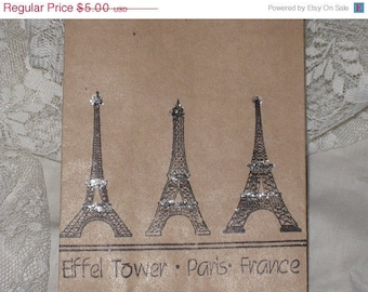 Vintage Eiffel Tower - Paris - France Mica Flaked Gift Bags Paris Apartment