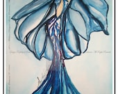 Watercolor Fashion Illustration limited edition signed by Artist