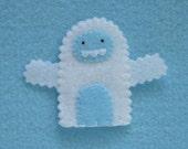 Yeti Finger Puppet - Felt Finger Puppet Yeti Snowman Abominable Snowman Puppet - Yeti Puppet - Felt Yeti Toy Finger Puppet