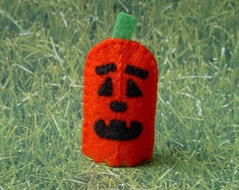 Halloween Pumpkin Finger Puppet - Jack O Lantern Puppet - Halloween Finger Puppet - Halloween Toy Puppet - Pumpkin Puppet