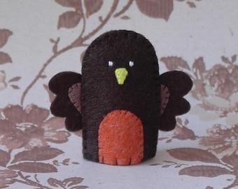 Robin Finger Puppet - Felt Finger Puppet Robin - Bird Finger Puppet - Felt Robin Puppet - Felt Animal Finger Puppet