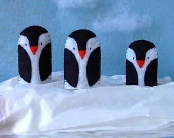Penguin Finger Puppet - Felt Penguin Puppet - Antarctica Puppet Bird