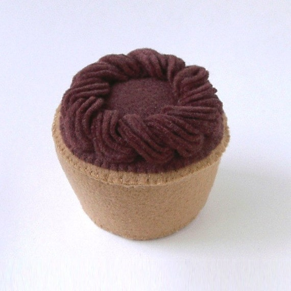 Chocolate Frosted Plush Cupcake