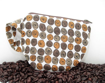 Coffee Cup Pouch - Tea Cup Pouch - Vintage Fabric - Gift Card Holder