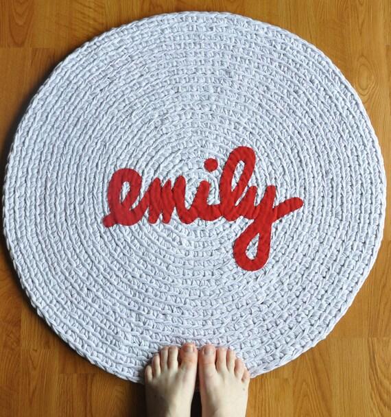 Rag Rug SALE Emily Applique Sample Sale Rug