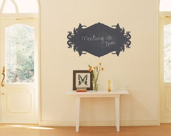 Ornate Chalkboard Vinyl Decal size SMALL – Office Decal, Home Design, Kitchen Wall Decal, Chalkboard Decals.