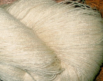 LACE Merino Tussah Silk Gossamer Weight  2 ply Yarn Dye Your Own, Undyed Lace Yarn, Ecru Merino Silk Lace Yarn Blank