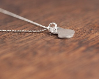 i love love you - Heart Necklace -  Silver Heart Necklace- Sterling Silver Chain- Heart Charm- Sterling Silver Necklace