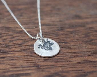 Baby Bee Necklace - Queen Bee Necklace - Bee Silver Necklace - Small Bee Necklace - Bee Activist Necklace