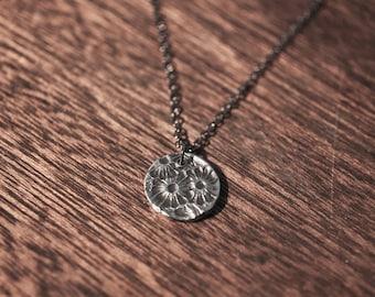 silver flower necklace - silverleaf necklace - spoon necklace - leaf necklace - flower necklace - leaf charm - leaf pendant - sterling