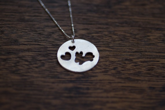 i love bunnys necklace - bunny jewelry - sterling silver rabbit - sterling silver bunny necklace - rabbit jewelry - heart bunnys