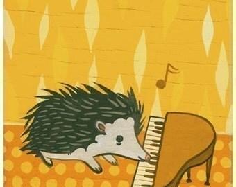 nursery decor, hedgehog art print, susie ghahremani, hedgehog art nursery art print animal, baby room decoration, fine art prints, hedge hog