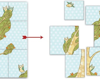 OWL post it notes by boygirlparty - home office post it sticky notepad - woodland owl sticky notes