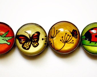 Insect Magnets Butterfly Garden Magnets - Insect Art Gift for Farmer Butterfly Magnets Fridge Magnets by boygirlparty