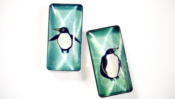 Office Gifts under 15: PENGUIN magnets by boygirlparty, winter theme fridge magnets, gifts under 20, novelty gift