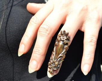 Midi Ring Rivendale Elegant Vintage Brass Knuckle Ring Armor Ring