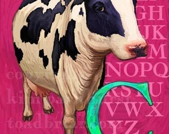 C Cow Alphabet Print 8x10 Signed