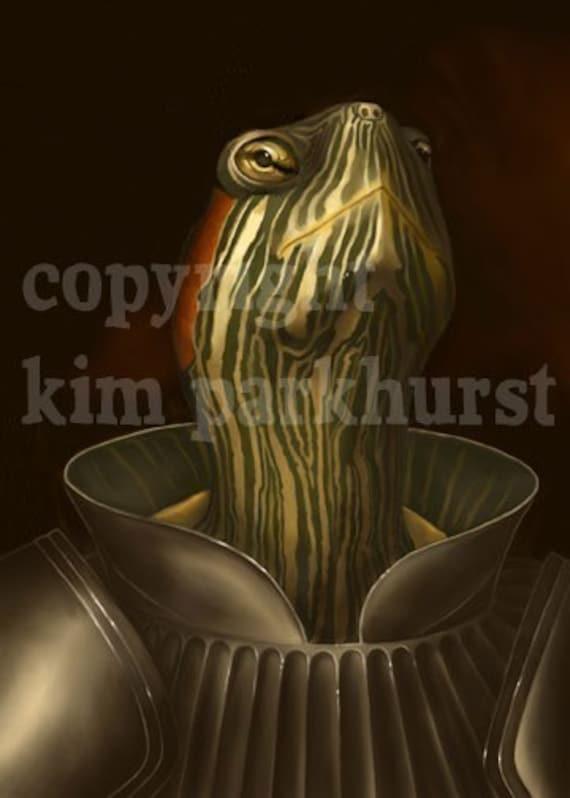 Turtle Knight Tortoise Armor Signed Print