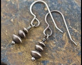 Cairns - oxidized recycled sterling silver drop earrings