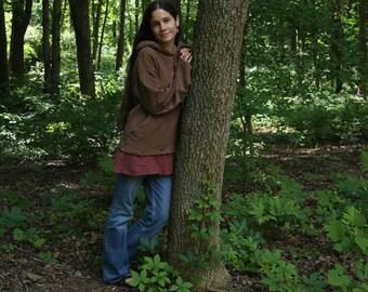 hemp clothing - pullover hoodie - 100% hemp and organic cotton - custom made to order - hand dyed - unisex