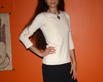 hemp clothing - tight fit long sleeve shirt - 100% hemp and organic cotton - custom made to order
