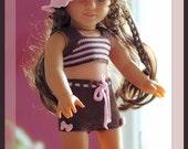 "Sugar Bows Tankini & Boyshorts For 18"" American Girl, Gotz, Madame Alexander and more Dolls"