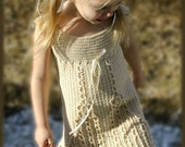 Little Cablelet  - Crochet Sundress Pattern Size 12 mos - Girls Size 7, Stylish, no-nonsense