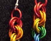 Rainbow Chain Earrings