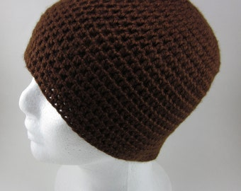 Brown Beanie - Adult Crocheted Beanie