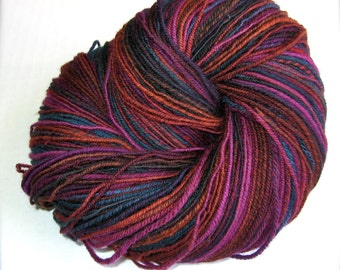 Handspun 3 ply Sport Weight Targhee Yarn