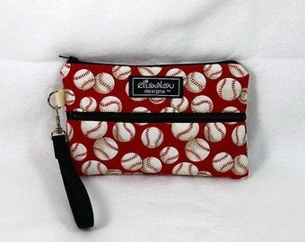 Baseball Padded Wristlet Mini Purse