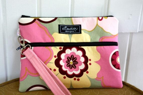 Kindle / iPad Mini / Nook / eReader / Padded bag / pouch- Pink Kleo