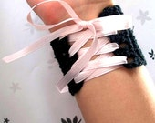Black Princess Wrist Cuff - Extra Small