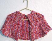 Crochet Capelet - Pink, Red, Purple, Violet, Burgundy - Nymph - SALE