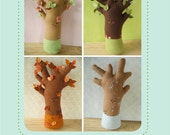 felt Happy Seasons Trees PDF pattern