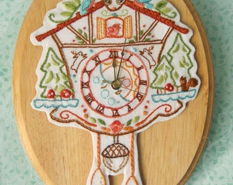 Cuckoo Clock Embroidery pattern PDF download hand embroidery patterns designs