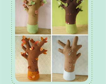 felt Happy Seasons Trees PDF pattern