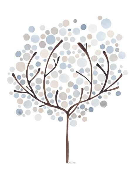 Tree Art Woodland Spirit Watercolour Print