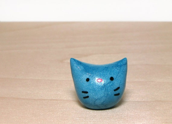 Shimmery Blue Pocket Kitty