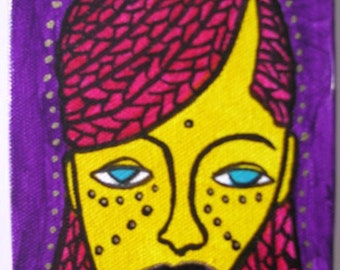 SALE WAS 50.00 Tisha - Original Acrylic Painting On Gallery Wrapped Canvas