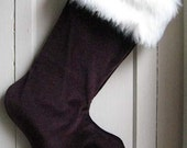 "Burgundy ""Dragon"" Monster Stocking - Large"