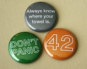 don't panic - 1 inch buttons