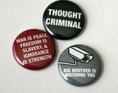 Thought Criminal - 1 inch buttons