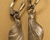 Japanese Maple  seed pod Oxidized sterling silver fairy wing earrings