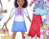 Printable Dress up paper doll