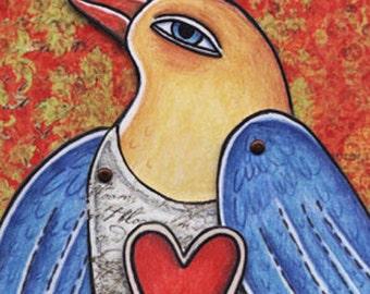 Love Bird paper doll instant download